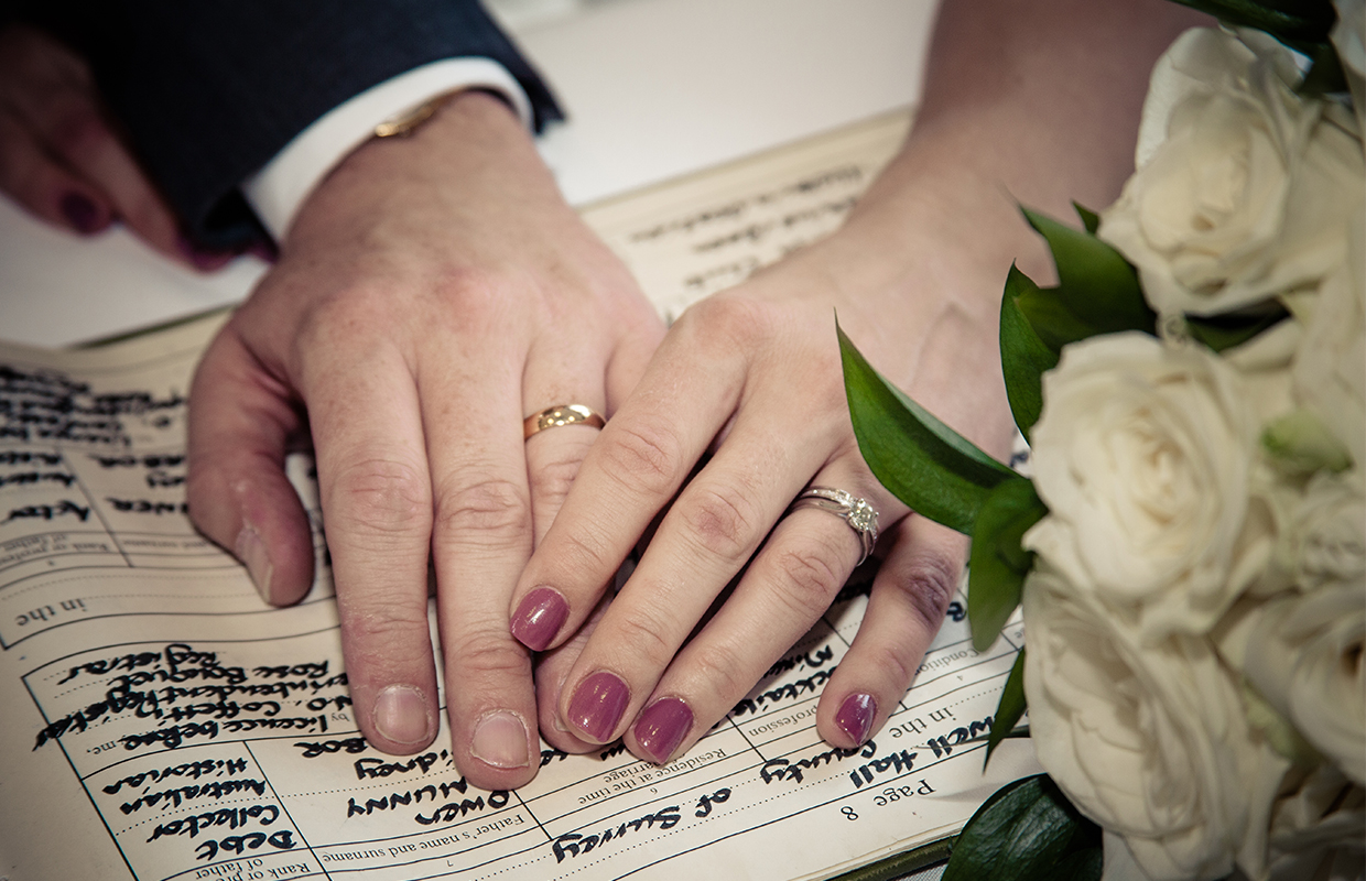 Wedding Register and Rings at Silvermere