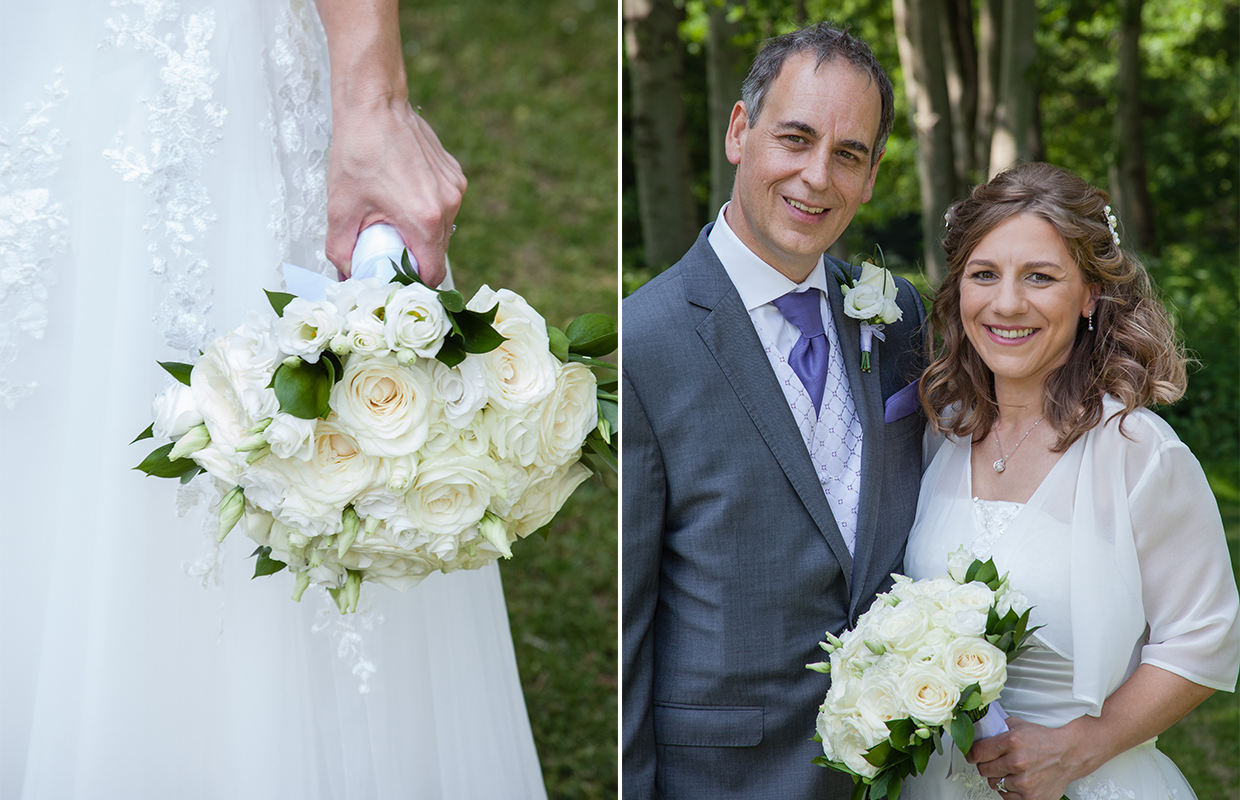 Bride and Groom at Silvermere