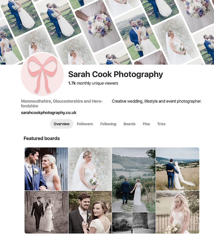Sarah Cook Wedding Photography with Pinterest