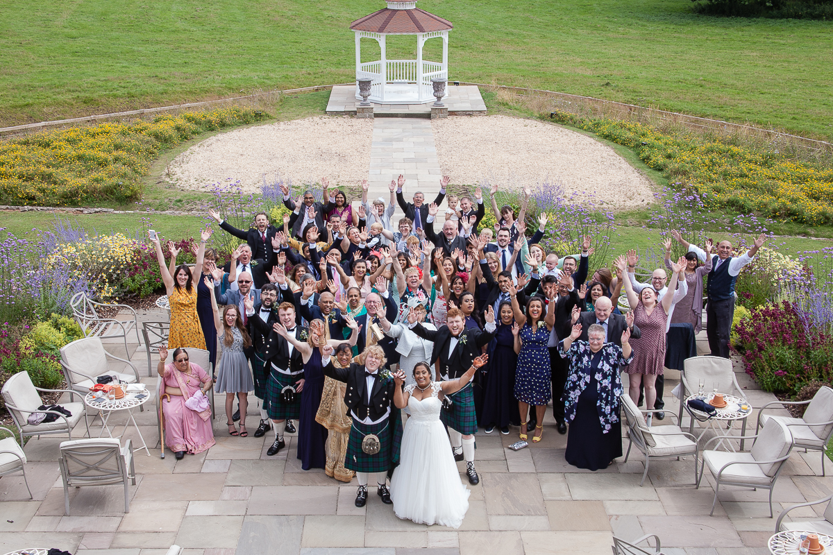 Group Photo at St Tewdrics House Wedding